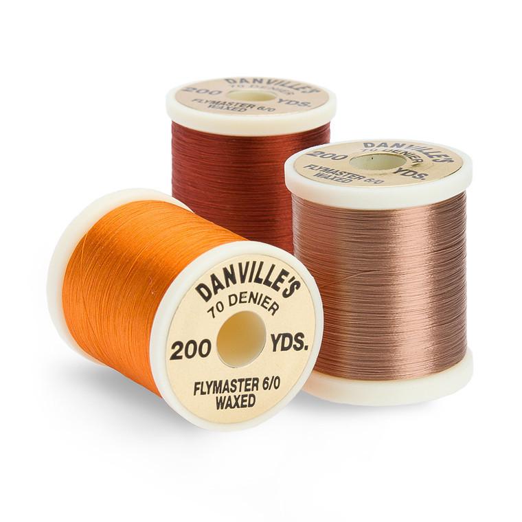 1 Spool #52 WINE Danville/'s FlyMaster No Wax 6//0 70 Denier 200 yards Fly Tying